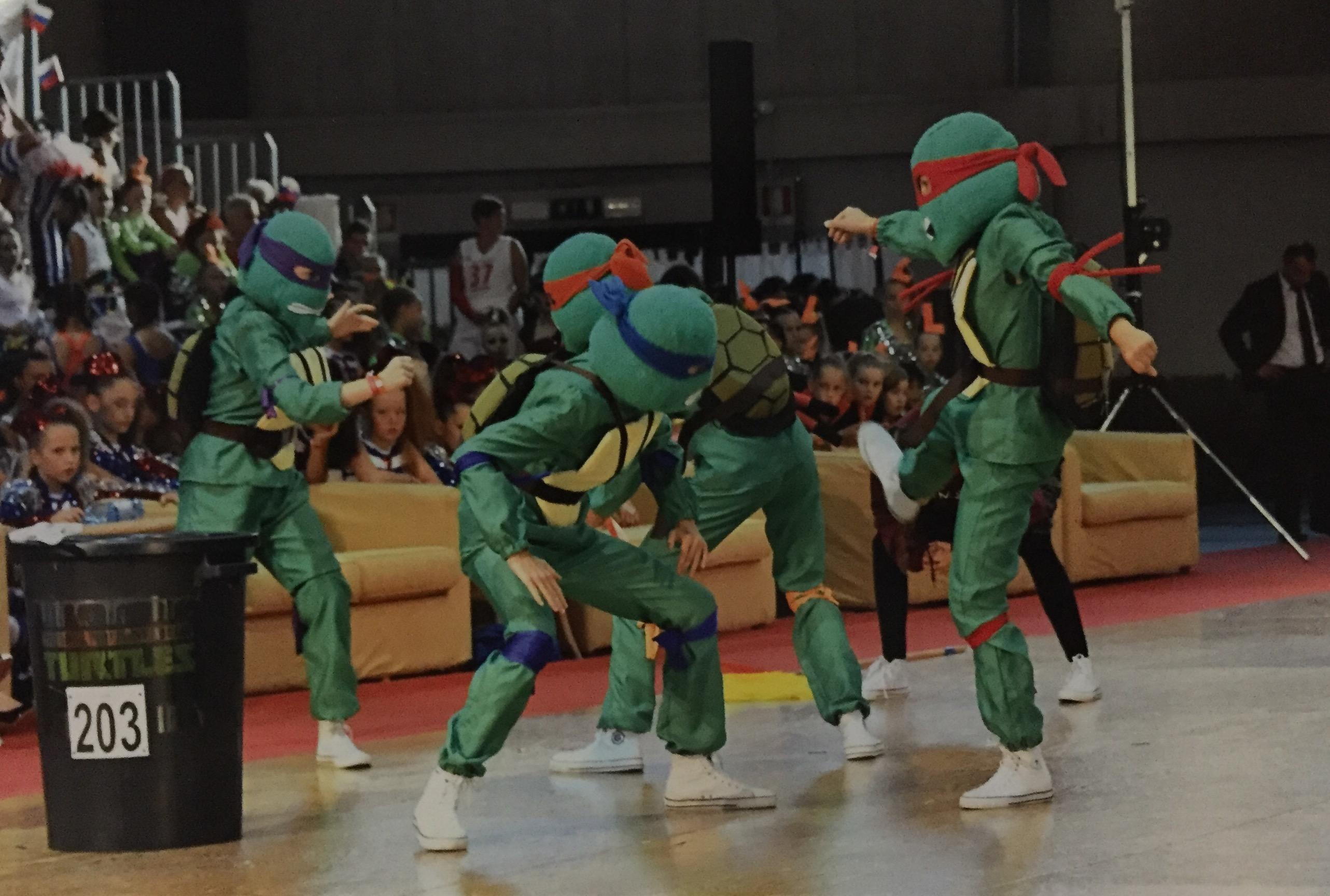 marticonewage choreografia ninja korytnačky